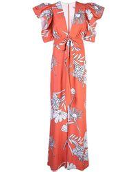 Silvia Tcherassi - Melbourne Floral-print Crepe Jumpsuit - Lyst