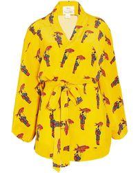 Chufy Kangoo Short Kimono - Yellow