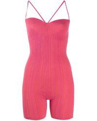Jacquemus Pink Striped Le Body Arancia Jumpsuit