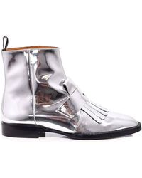 Robert Clergerie - Yousc Boot In Silver - Lyst
