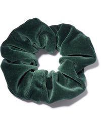 Lizzie Fortunato Velvet Scrunchie In Emerald - Green