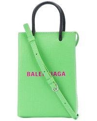 Balenciaga Phone Crossbody Handbag - Green