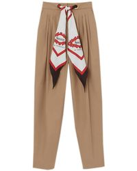 Burberry Slim-leg Scarf-waist Pants - Multicolor