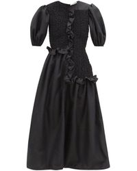 Cecilie Bahnsen - Camden Puff Sleeve Smock Dress - Lyst
