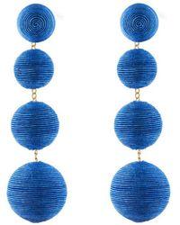 Rebecca de Ravenel - Royal Blue Electric 4 Drop Earrings - Lyst