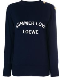 Loewe - Summer Love Knitted Sweater - Lyst