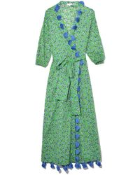RHODE - Lena Dress In Turquoise Ditsy Floral - Lyst