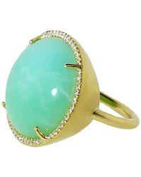 Irene Neuwirth Cabochon Mint Chrysoprase Ring - Multicolor