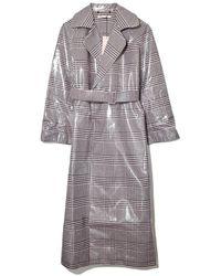 Emilia Wickstead Jill Coat In Lacquered Check - Multicolor