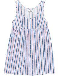 The Sleep Shirt Pocket Nightie Blue And Pink Trio Stripe
