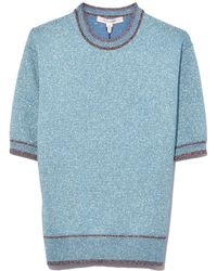 Marc Jacobs - Short Sleeve Crew Neck In Pale Blue - Lyst
