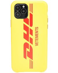 Vetements Dhl Iphone Case - Yellow