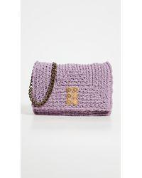 Kooreloo Crochet Flap Bag - Purple