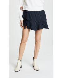 Cinq À Sept Pinstripe Luella Skirt - Blue