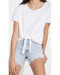 Sundry Tie Front T-shirt - White