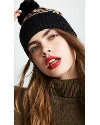 Kate Spade - Leopard Beanie Hat - Lyst