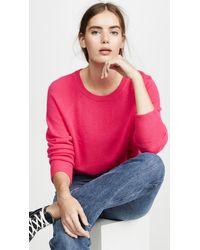 White + Warren Essential Cashmere Sweater - Pink