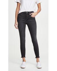 GOOD AMERICAN Good Legs Crop Jeans - Black