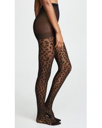 Kate Spade - Leopard Sheer Tights - Lyst