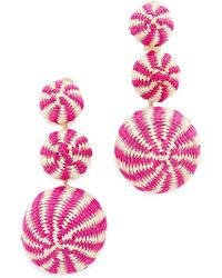 Mercedes Salazar Fiesta Tropical Earrings - Pink