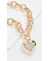 Kenneth Jay Lane Heart Pendant Toggle Necklace - Metallic