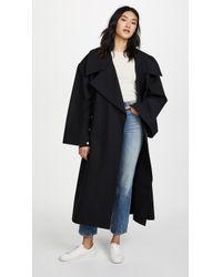 Awake | Oversized Coat With Sleeve Details | Lyst