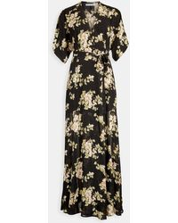 Reformation - Winslow Floral-print Georgette Wrap Maxi Dress - Lyst
