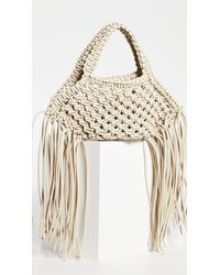 Yuzefi - Mini Woven Basket Bag - Lyst