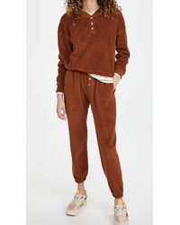 DONNI. Terry Henley Sweatpants - Brown