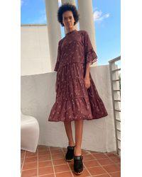 Warm Glastonbury Long Dress - Multicolour