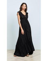 Tiare Hawaii Krawang Kimono Dress - Black