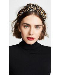 Jennifer Behr Fiona Leopard-print Silk Headband - Black