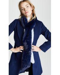 Heurueh Long & Skinny Faux Fur Scarf - Blue