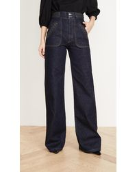 Runway Marc Jacobs Flared Jeans With Braided Waist & Pocket - Blue