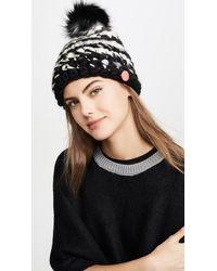 Mischa Lampert Deep Stripe Hat - Black