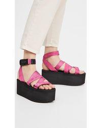 Moschino Platform Sandals - Pink