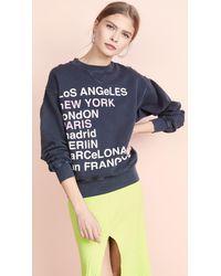 Anine Bing City Love Sweatshirt - Blue