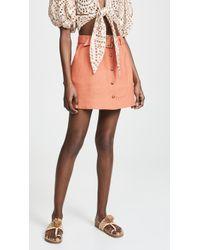 Lisa Marie Fernandez - Belted Miniskirt - Lyst