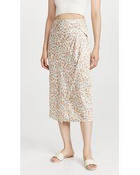 Vince Carnation Asymmetric Cascade Drape Skirt - Multicolour