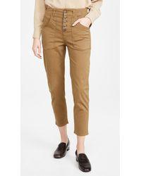 Veronica Beard Arya Cargo Straight Trousers - Multicolour