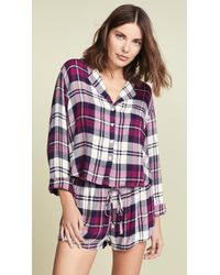 Rails - Long Sleeve Short Pj Set - Lyst