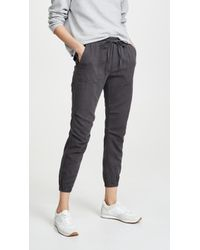 Monrow Patch Pocket Sweatpants - Black