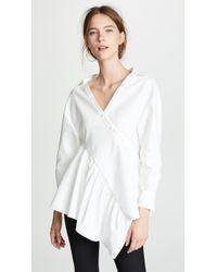 ADEAM - Twisted Wrap Shirt - Lyst