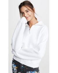 RE/DONE 70s Half Zip Sweatshirt - White