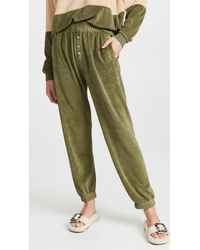 DONNI. Terry Henley Sweatpants - Green
