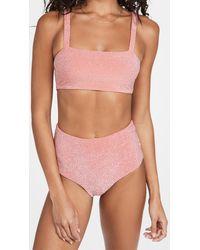 Mikoh Swimwear Kano Bikini Top - Pink
