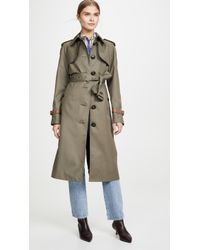 COACH Belted Trench - Multicolor