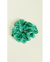 Chan Luu Plaid Scrunchie - Green