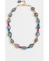 Brinker & Eliza Double-take Baroque Pearl Choker - Multicolour