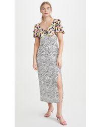 Glamorous Multi Abstract Spot Midi Dress - Multicolor